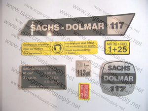 Sachs Dolmar 117 decal set
