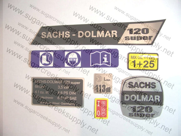 Sachs Dolmar 120 Super decal set
