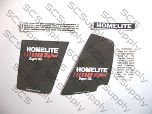 Homelite Super XL (Big Red) decal set