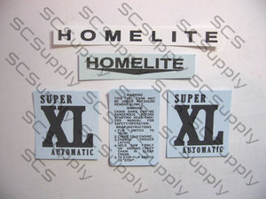 Homelite Super XL (mid red) decal set