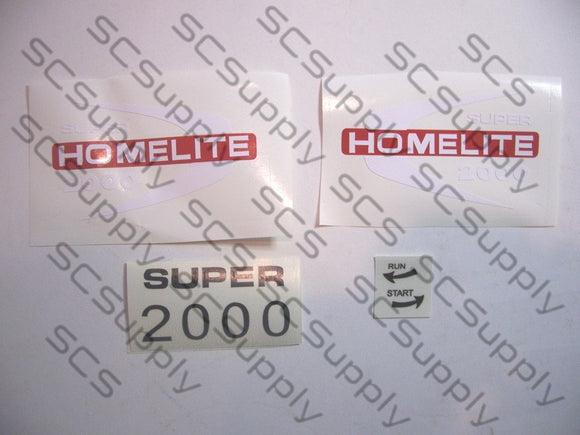 Homelite Super 2000 decal set