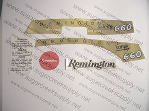 Remington Super 660 decal set