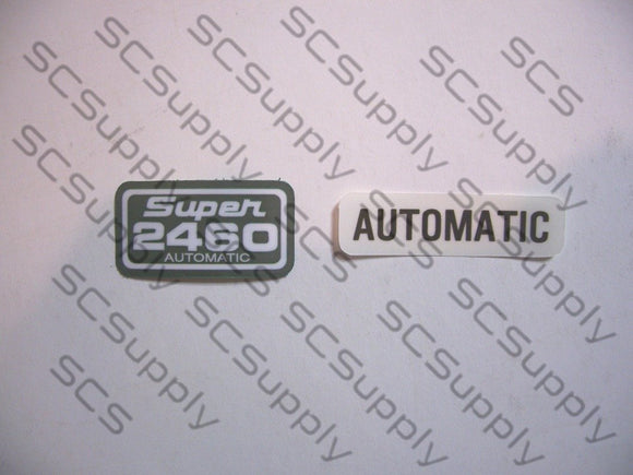 Pioneer Super 2460 Automatic decal set