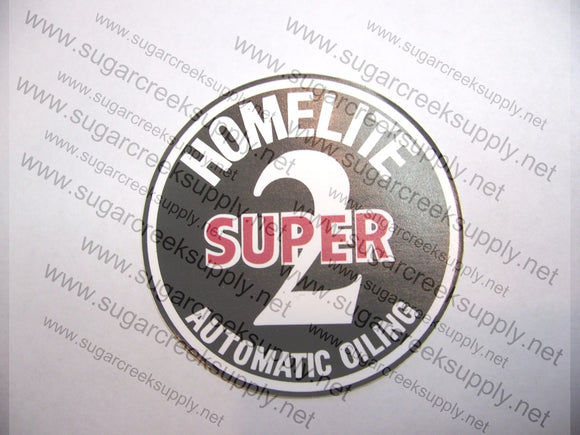 Homelite Super 2 starter cover decal