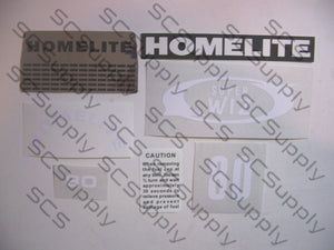 Homelite Super WIZ 80 decal set