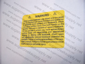 Husqvarna Warning (standard) decal