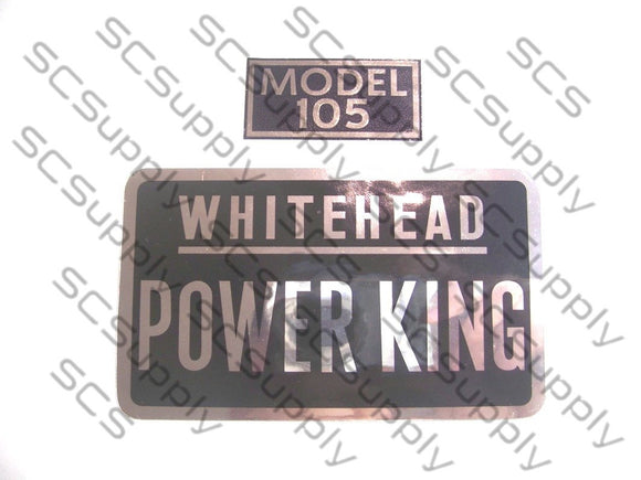 Whitehead Power King 105 decal set