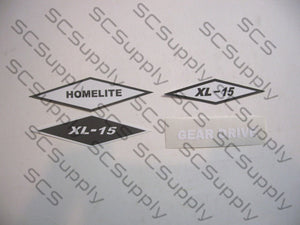 Homelite XL-15 decal set