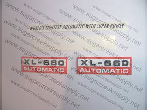Homelite XL-660 decal set