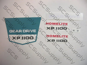 Homelite XP1100 decal set