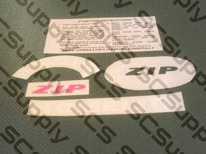 Homelite ZIP decal set