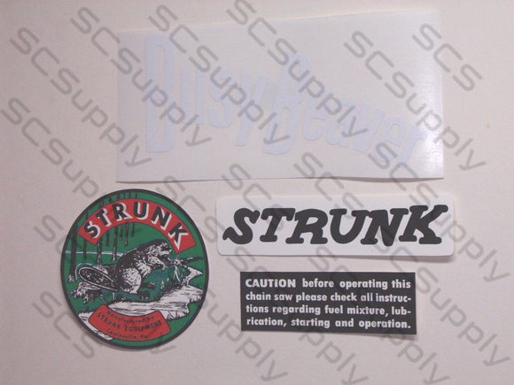 Strunk Busy Beaver decal set