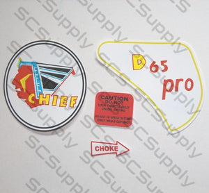 Clinton D65 Pro (Chief) decal set