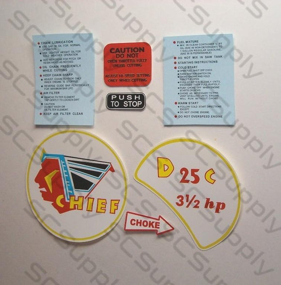 Clinton D25C decal set