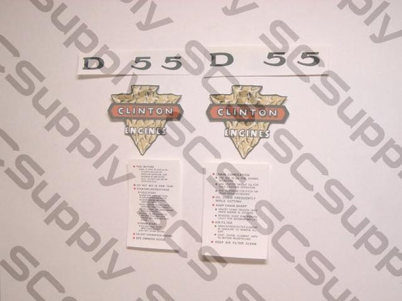 Clinton D55 decal set