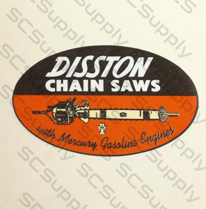 "Disston 4.5"" oval decal"
