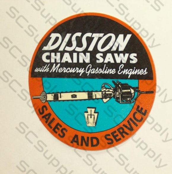 Disston DA-211 Sales & Service decal
