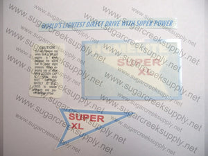 Homelite Super XL (early) decal set