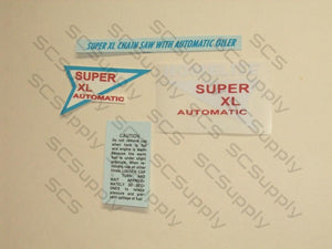 Homelite Super XL Auto (early) decal set