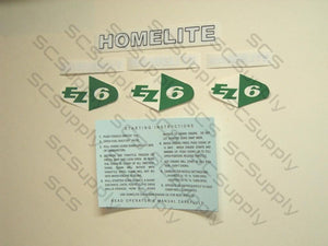Homelite EZ-6 decal set
