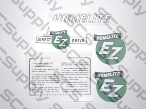 Homelite EZ (Original) decal set