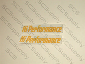 Pioneer/Partner Hi Performance decal set