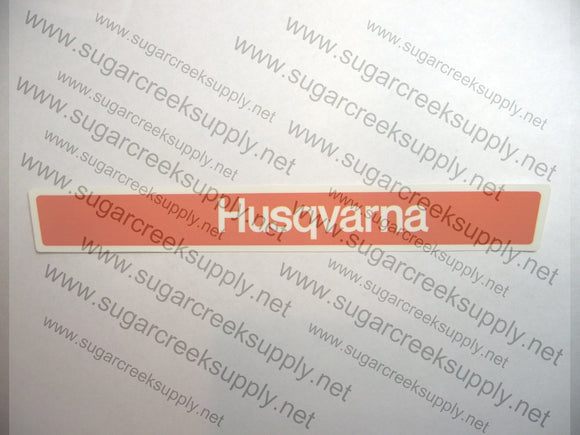 Husqvarna long orange/white clutch cover decal