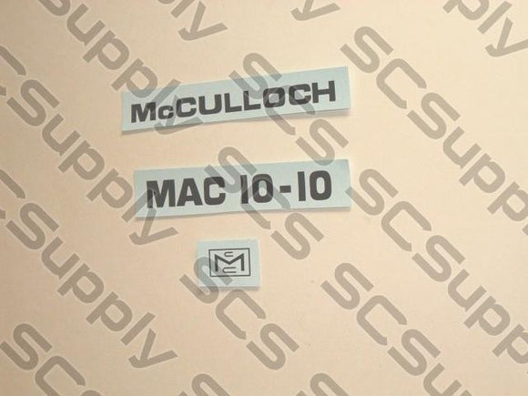 McCulloch 10-10 decal set