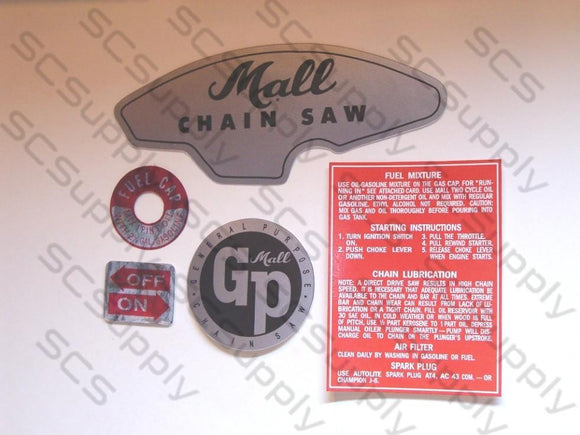 Mall GP decal set