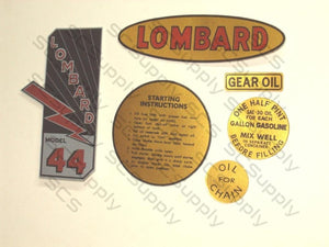 Lombard Model 44 decal set