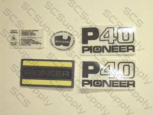 Pioneer P40 decal set