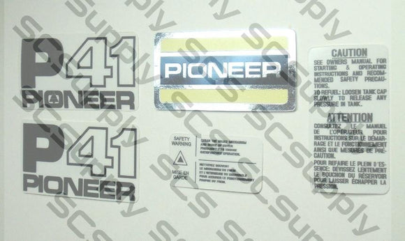 Pioneer P41 decal set