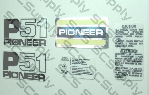 Pioneer P51 decal set