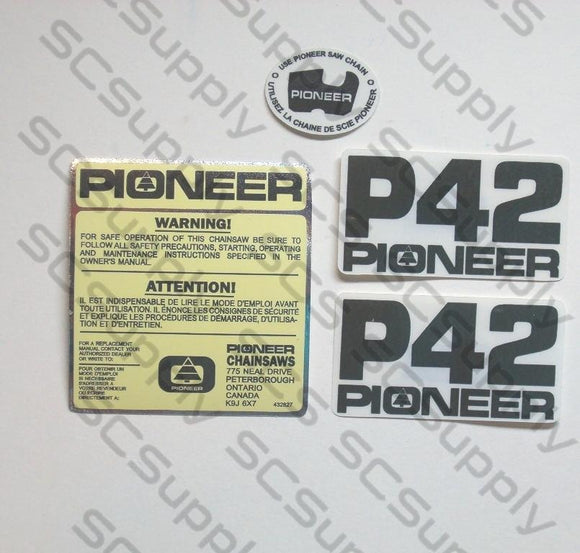 Pioneer P42 decal set