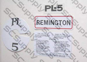 Remington PL-5 (red/white) decal set