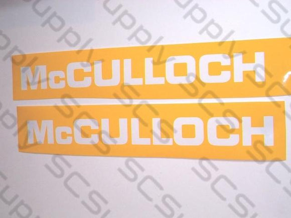 McCulloch bar stencil set