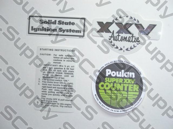Poulan Super XXV CounterVibe decal set