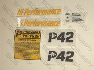 Pioneer/Partner P42 decal set