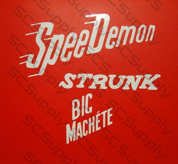 Strunk Big Machete decal set