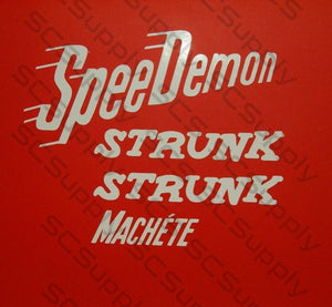 Strunk Machete decal set