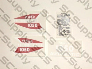 Homelite Super 1050 Auto(red/white) decal set