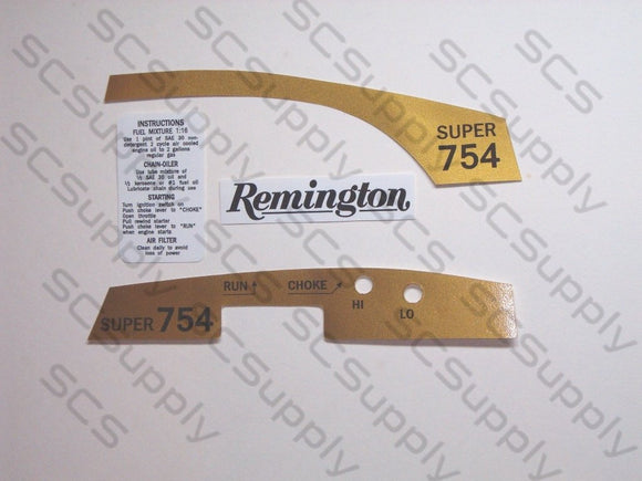 Remington Super 754 decal set