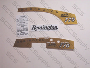 Remington Super 770 decal set