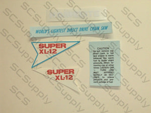 Homelite Super XL-12 decal set