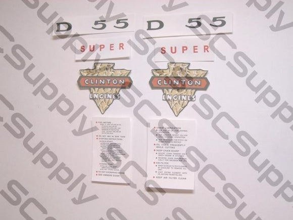 Clinton Super D55 decal set
