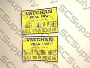 Vaughan Drag Saw decal set