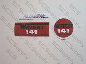 Wright 141 decal set