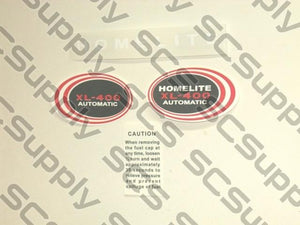 Homelite XL-400 decal set