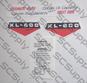 Homelite XL-800 decal set