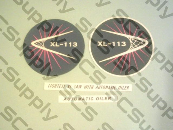 Homelite XL-113 decal set